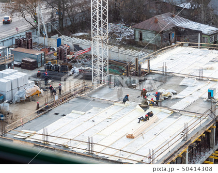 Aerial view on construction site  50414308