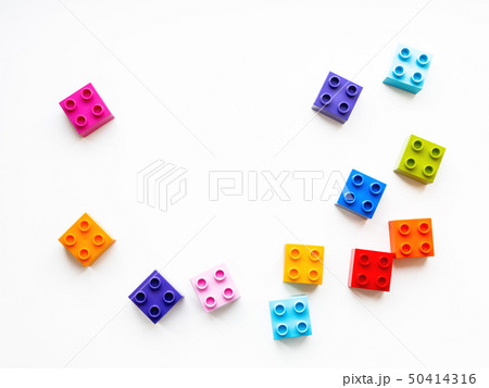 Colorful constructor blocks. Toy bricks 50414316