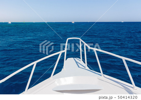 Seascape of Red sea, Egypt. View from boat nose 50414320