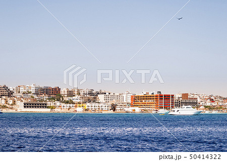 Hurghada coastline with hotel and resort, Egypt 50414322
