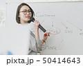 女性 セミナー ホワイトボードの写真 50414643