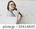 女性 セミナー ホワイトボードの写真 50414645