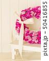 ピンクのフラワーリース 50416855