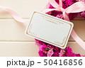 ピンクのフラワーリース 50416856