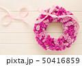 ピンクのフラワーリース 50416859