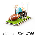 Unusual 3d illustration of an American football  50418766