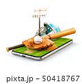 ベースボール 白球 野球のイラスト 50418767