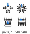 meeting and conference icon set 50424848