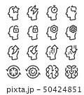 brain performance line icon set 50424851