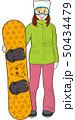 スノーボードと女の子 50434479