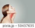 痛い のど 咽の写真 50437635