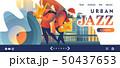 ジャズ サックス アルトサクソフォンのイラスト 50437653