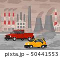 ベクター 汚染 車のイラスト 50441553