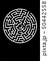Minimal Poster with Circle Maze. Vector BG. Decision Concept 50442558