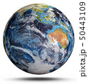 Planet Earth cyclone. 3d rendering 50443109