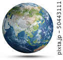 Planet Earth weather. 3d rendering 50443111
