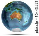 Australia and Oceania. 3d rendering 50443113