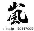 嵐 毛筆 筆文字 50447005
