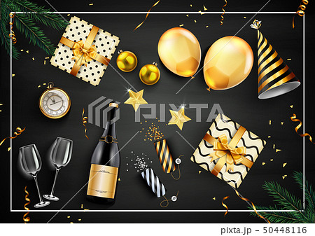 New year party design template with elements 50448116