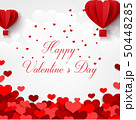 Happy valentines day greetings card with realistic 50448285