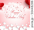Vector illustration of Happy valentines day greeti 50448286