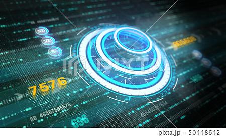 Hi-Tech graphic futuristic user interface head up 50448642