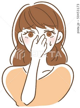 鼻をつまむ女性 50453173