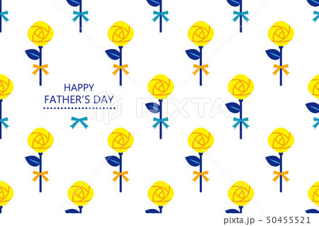 Greeting of father's day & Rose pattern Horizontal 50455521