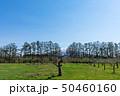 (青森県-風景)りんご農園から望む岩木山2 50460160
