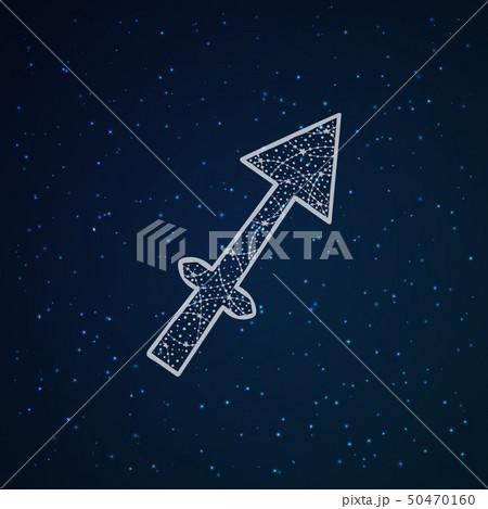 Sagittarian zodiac sign. 50470160