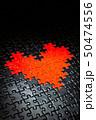 黒地にハート型のジグソーパズル 50474556