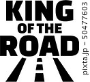 King of the road with street icon trucker 50477603
