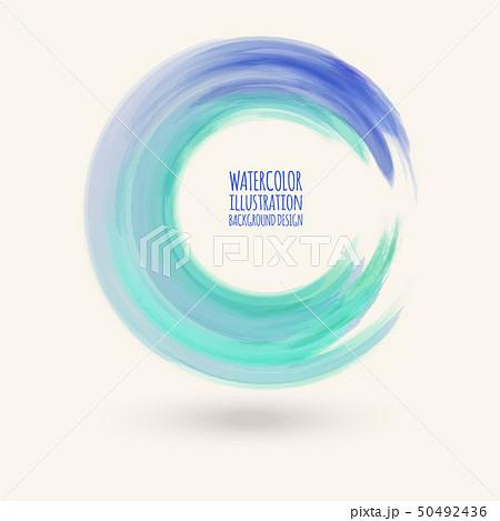 Watercolor circle texture. Vector circle elements 50492436