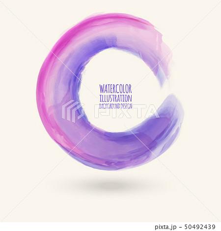Watercolor circle texture. Vector circle elements 50492439