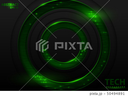 Tech Background with Green Elements 50494891