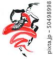 Flamenco. Beautiful Dancing Woman 50498998