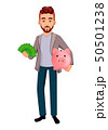 Cartoon character businessman in casual clothes 50501238