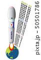 令和と西暦の地球・ロケット 50501786