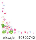 紫陽花のフレーム フォトフレーム 背景素材 50502742