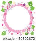 紫陽花のフレーム 背景素材 50502872