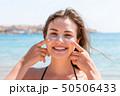 ビーチ 浜辺 クリームの写真 50506433