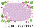 紫陽花のフレーム ポストカード 横 背景素材 50514437