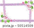 紫陽花のフレーム ポストカード 横 背景素材 50514509