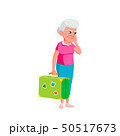 Caucasian Old Woman Vector. Elderly People. Senior Person. Isolated Cartoon Illustration 50517673
