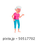 Caucasian Old Woman Vector. Elderly People. Senior Person. Isolated Cartoon Illustration 50517702