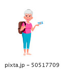 Caucasian Old Woman Vector. Elderly People. Senior Person. Isolated Cartoon Illustration 50517709