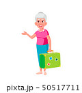 Caucasian Old Woman Vector. Elderly People. Senior Person. Isolated Cartoon Illustration 50517711