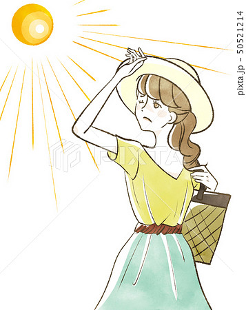 女性-日差し-紫外線 50521214