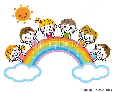 虹と子供たち 50521663