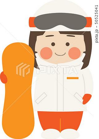 女性キャラクタースノーボード 50525041